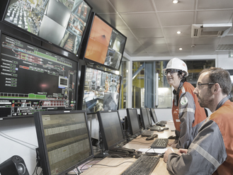 Control room of the continuous annealing line. st che%cc%81ly desat