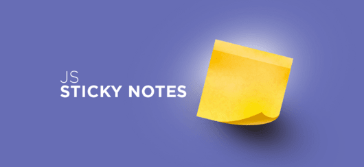 JavaScript: Sticky Notes - przesuwalne notatki