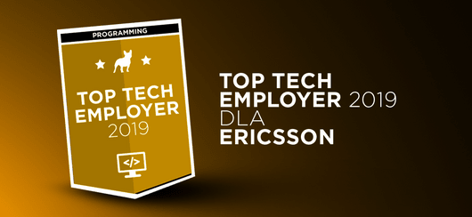 Ericsson z tytułem Top Tech Employer 2019
