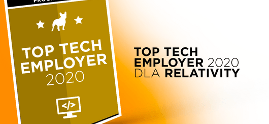 Relativity z tytułem Top Tech Employer 2020