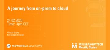 """Weź udział w meetupie """"A journey from on-prem to cloud"""""""