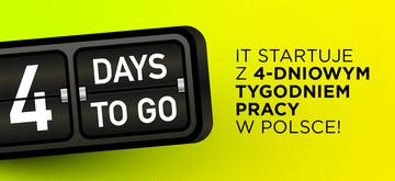 Firmy IT pierwsze w Polsce wprowadzają 4-dniowy tydzień pracy!